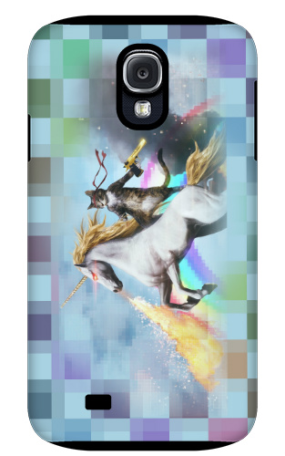 Cat Riding Unicorn With Gun Iphone