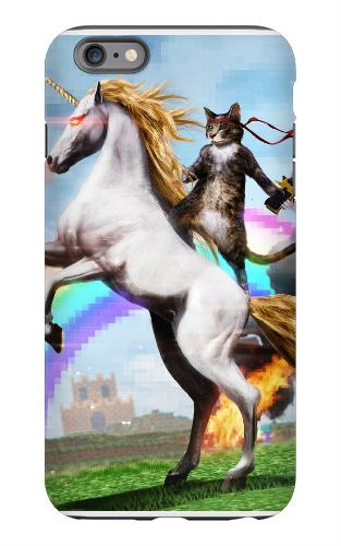 Badass Cat on Badass Unicorn
